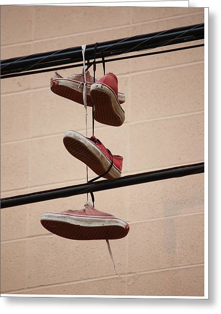 Shoe String Greeting Cards - Gramma T Greeting Card by Jerry Cordeiro