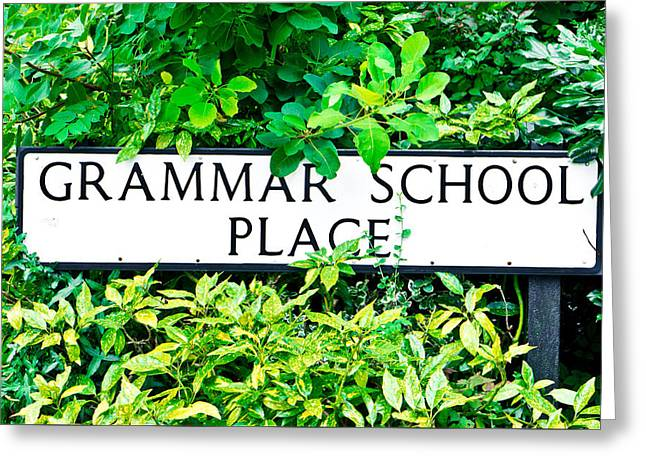 Grammer School Place Greeting Card by Tom Gowanlock