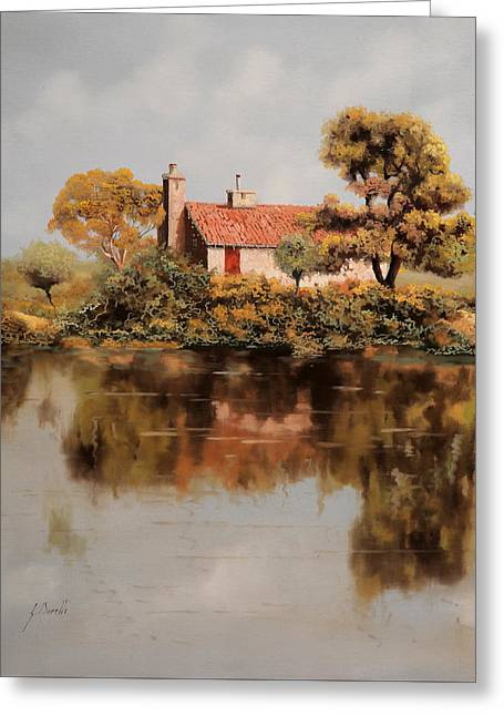 Reflection Lake Greeting Cards - Gran Riflesso Greeting Card by Guido Borelli