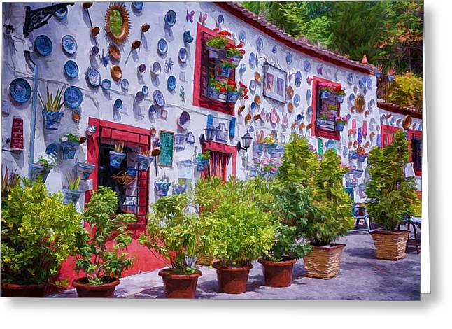 Gypsy Greeting Cards - Granada House Greeting Card by Joan Carroll