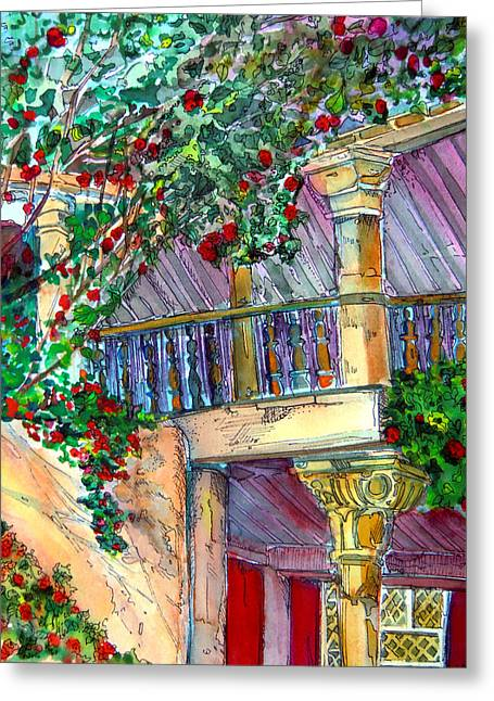 Adobe Drawings Greeting Cards - Granada Spain Greeting Card by Mindy Newman