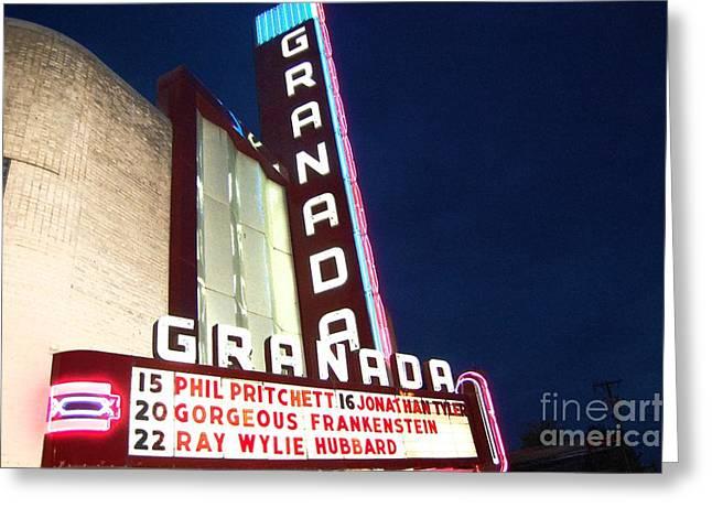 Granada Theater Greeting Card by Debbi Granruth