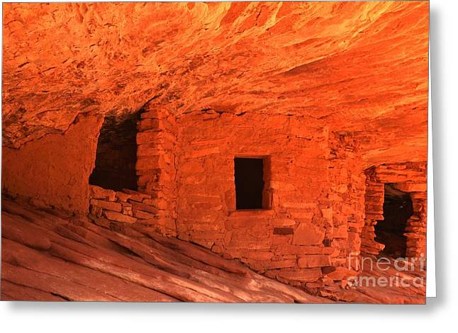 Ancient Ruins Greeting Cards - Granaries On Fire  Greeting Card by Adam Jewell