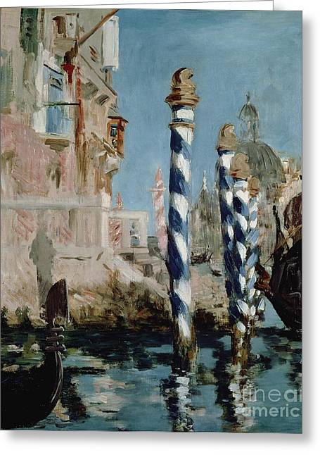 Reflecting Water Greeting Cards - Grand Canal Greeting Card by Edouard Manet