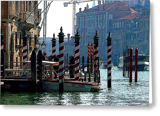 Resturant Art Greeting Cards - Grand Canal of Venice Greeting Card by Mindy Newman