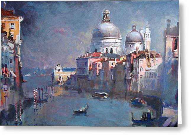 Venetian Canals Greeting Cards - Grand Canal Venice Greeting Card by Ylli Haruni