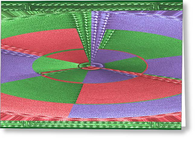 Abstract Movement Greeting Cards - Grand Canvas Leather Stich Border n Texture Interior WallArt Decoration Greeting Card by Navin Joshi