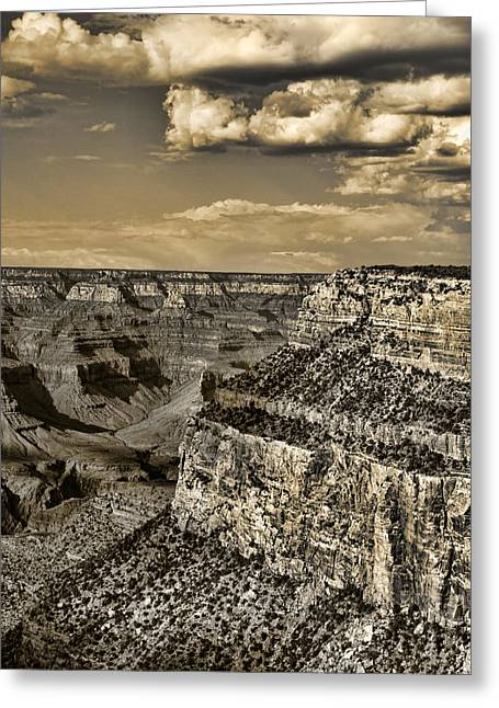 Filter Art Greeting Cards - Grand Canyon - Anselized Greeting Card by Ricky Barnard