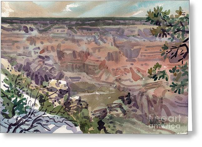 South Rim Greeting Cards - Grand Canyon 08 Greeting Card by Donald Maier