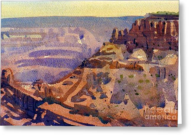 South Rim Greeting Cards - Grand Canyon 77 Greeting Card by Donald Maier