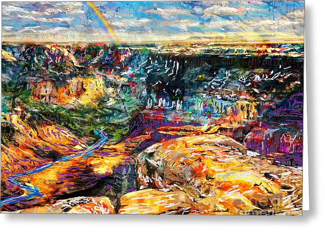 Cheap Abstract Art Greeting Cards - Grand Canyon Art Greeting Card by Ryan RockChromatic
