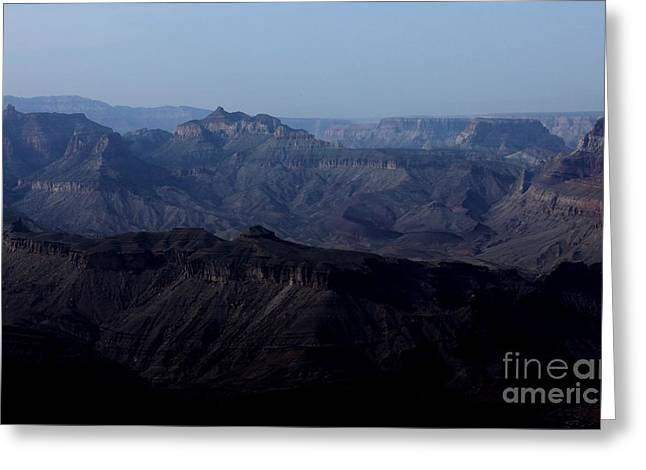 Grand Canyon At Dusk Greeting Card by Erica Hanel