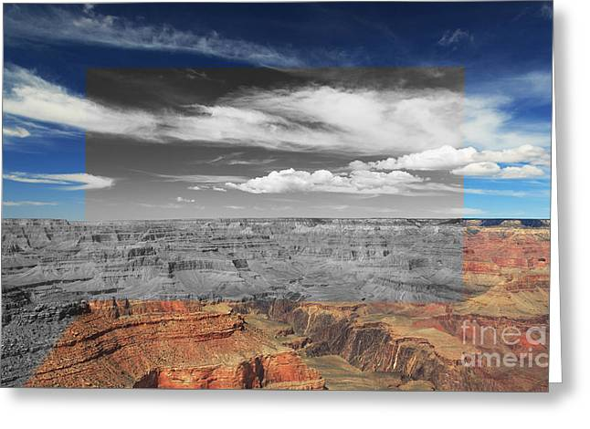 Original Art Photographs Greeting Cards - Grand Canyon Cross Greeting Card by Stephen Allen