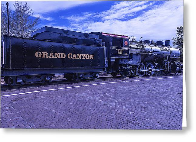 Grand Canyon Engine 539 Train Greeting Card by Garry Gay