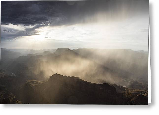 The Grand Canyon Greeting Cards - Grand Canyon Glow Greeting Card by John McGraw