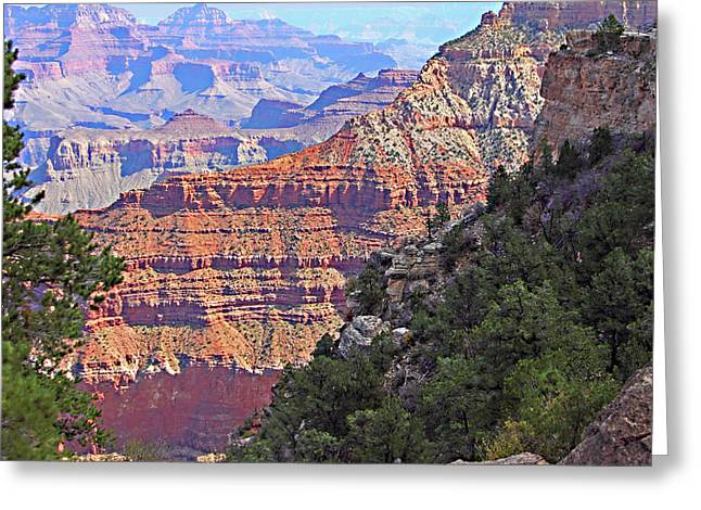 Travel Arizona Greeting Cards - Grand Canyon layers of Nature Greeting Card by Linda Phelps