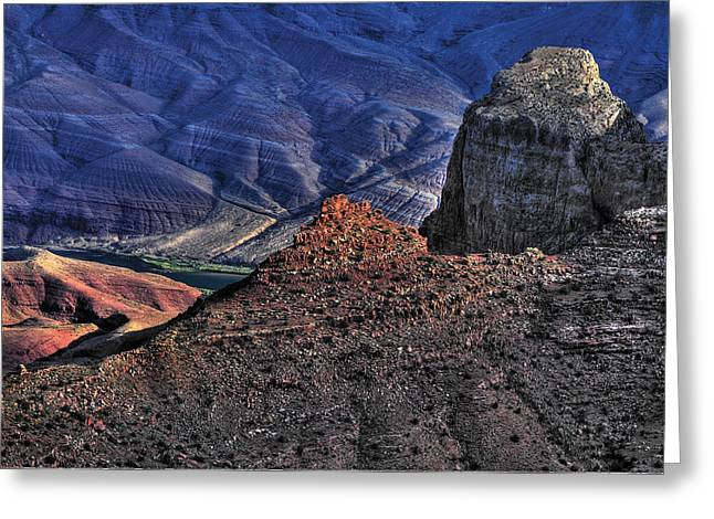 Grand Cayon Greeting Cards - Grand Canyon Mystic Colors Greeting Card by Don Wolf