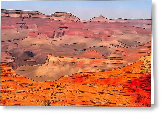 The Grand Canyon Greeting Cards - Grand Canyon National Park Summer Greeting Card by Dan Sproul