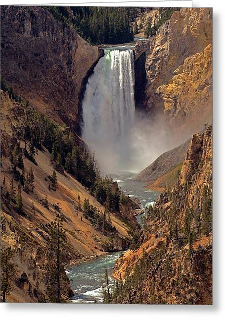 The Grand Canyon Greeting Cards - Grand Canyon of the Yellowstone Greeting Card by Robert Pilkington
