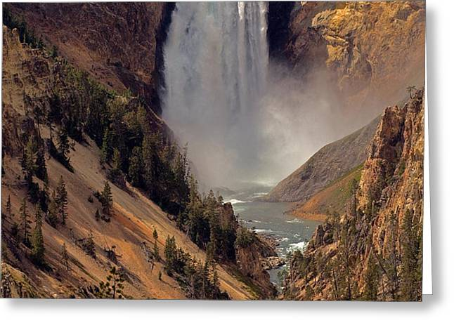 Grand Canyon of the Yellowstone Greeting Card by Robert Pilkington