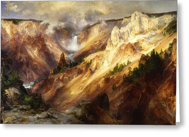 Grand Canyon Of The Yellowstone Greeting Card by Thomas Moran