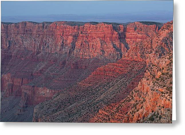 Grand Canyon South Rim At Sunset Greeting Card by Dean Pennala