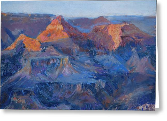 National Pastels Greeting Cards - Grand Canyon Study Greeting Card by Billie Colson