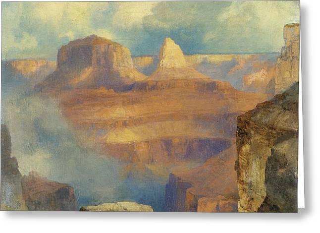 Grand Canyon Greeting Card by Thomas Moran