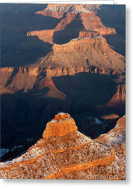 Yaki Greeting Cards - Grand Canyon Yaki Point Greeting Card by Clarence Holmes
