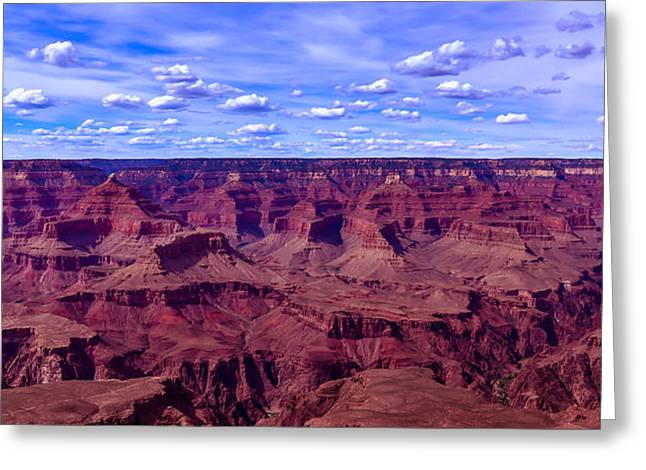 Grand Cayon Greeting Cards - Grand Canyons Panaroma Greeting Card by Abhay P