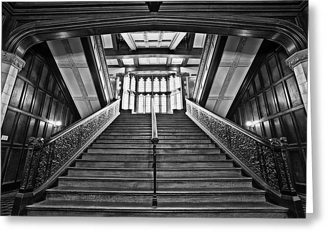 Stair Case Greeting Cards - Grand Case Greeting Card by CJ Schmit
