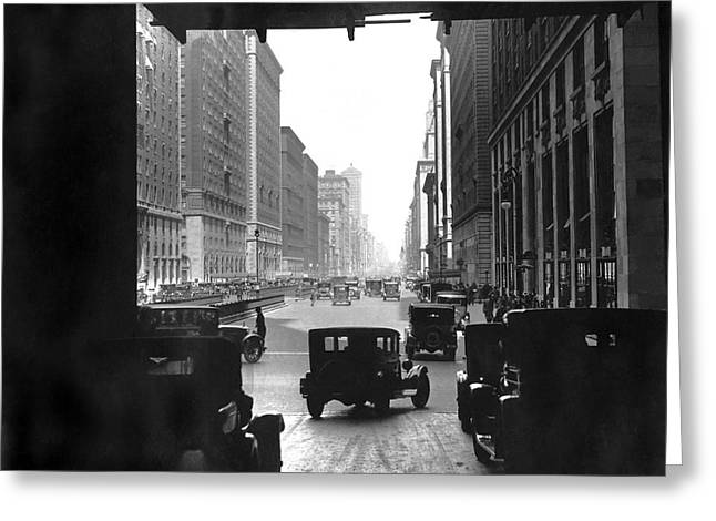 Grand Central Station Portal Greeting Card by Underwood Archives