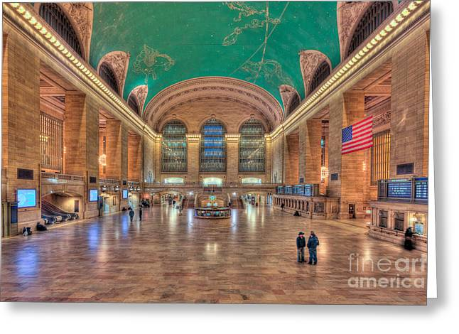 Concourse Greeting Cards - Grand Central Terminal V Greeting Card by Clarence Holmes