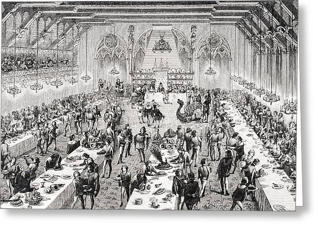Banquet Greeting Cards - Grand Ceremonial Banquet At The French Greeting Card by Ken Welsh