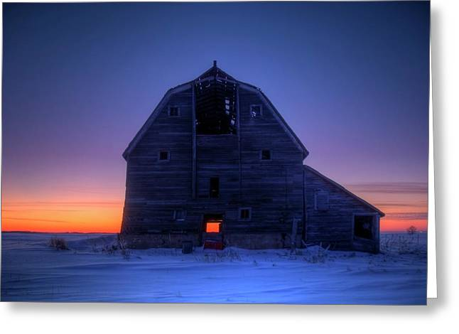 Saskatchewan Prairies Greeting Cards - Grand Dad Greeting Card by Wayne Stadler