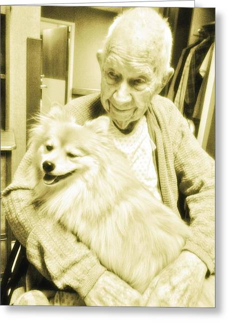 Puppies Photographs Greeting Cards - Grand Daddy Greeting Card by Jennifer McGuire