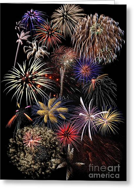 4th July Greeting Cards - Grand Finale Greeting Card by Ken DePue
