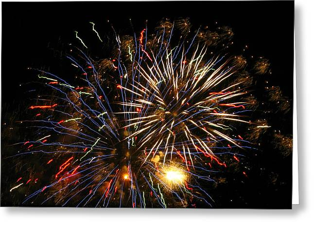4th July Photographs Greeting Cards - Grand Finale Greeting Card by M E Cieplinski