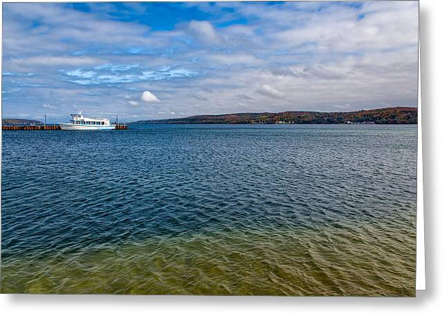 Docked Boat Greeting Cards - Grand Harbor on Lake Superior Greeting Card by John Bailey