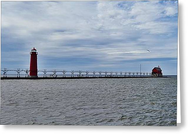 American Bridge Company Greeting Cards - Grand Haven Greeting Card by 2141 Photography