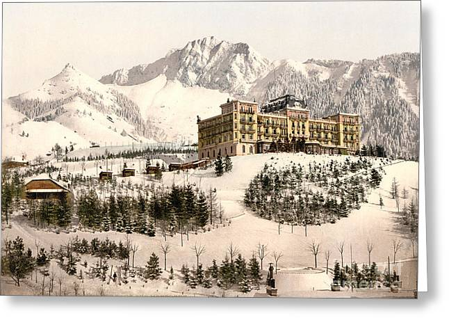 Grand Hotel Greeting Cards - Grand-Hotel de Caux Greeting Card by Celestial Images