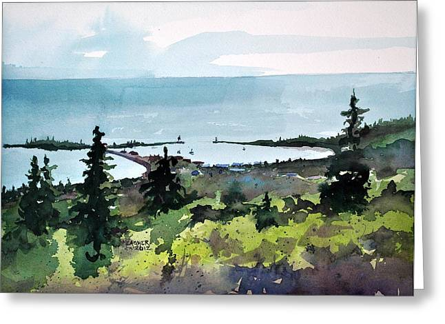 Spencer Meagher Greeting Cards - Grand Marais From Pincushion Mountain Greeting Card by Spencer Meagher