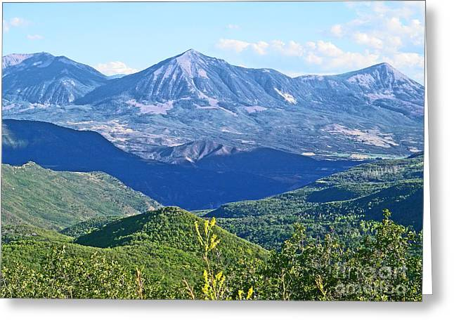 West Fork Greeting Cards - Grand Mesa to West Elk Vista Colorado Greeting Card by Dale Jackson