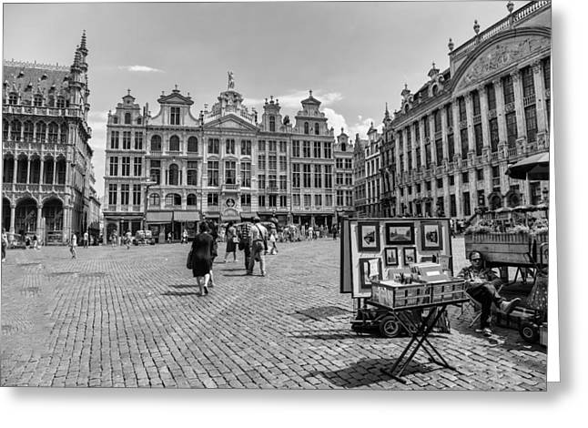 Bruxelles Greeting Cards - Grand Place Brussels Greeting Card by Nomad Art And  Design