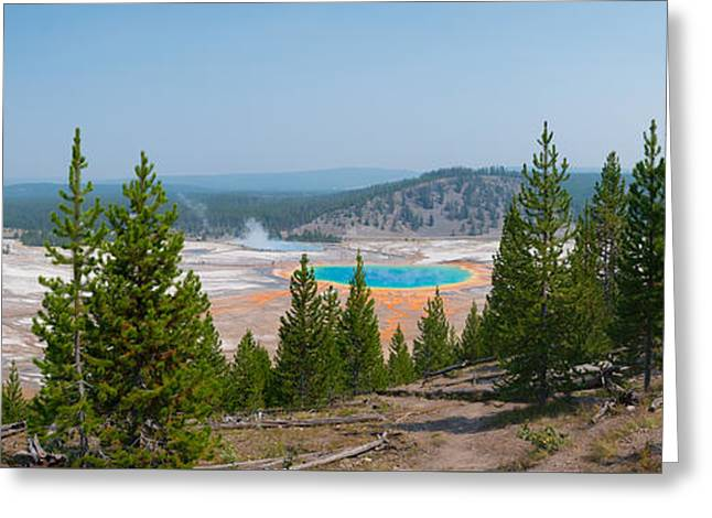 Grand Prismatic Spring Panorama Greeting Card by Michael Ver Sprill