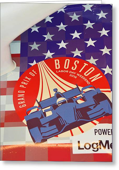 Grand Prix Of Boston Greeting Card by Mike Martin