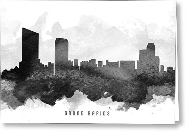 Grand Rapids Cityscape 11 Greeting Card by Aged Pixel