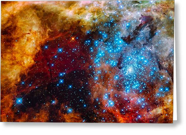 Magellanic Greeting Cards - Grand Star-Forming Region Greeting Card by Marco Oliveira
