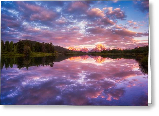 Teton Greeting Cards - Grand Sunrise Greeting Card by Darren  White
