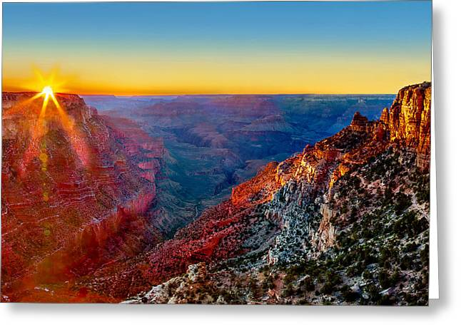 Grand Canyon Photographs Greeting Cards - Grand Sunset Greeting Card by Az Jackson